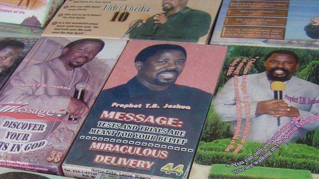 TB Joshua videos pictured in 2005
