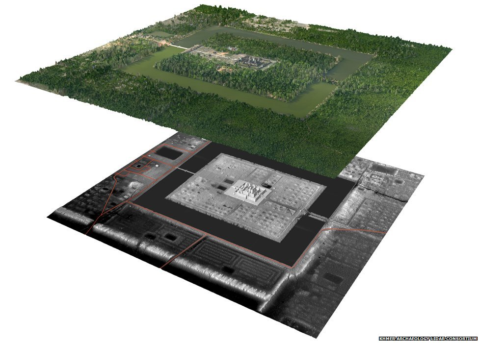 Image showing what is beneath the ground at Angkor
