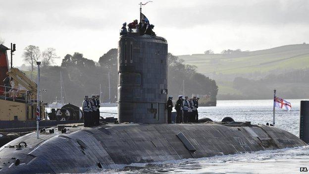 Trafalgar Class submarine at Plymouth