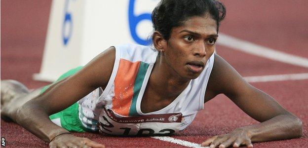 India's Santhi Soundarajan at the 2006 Asian Games