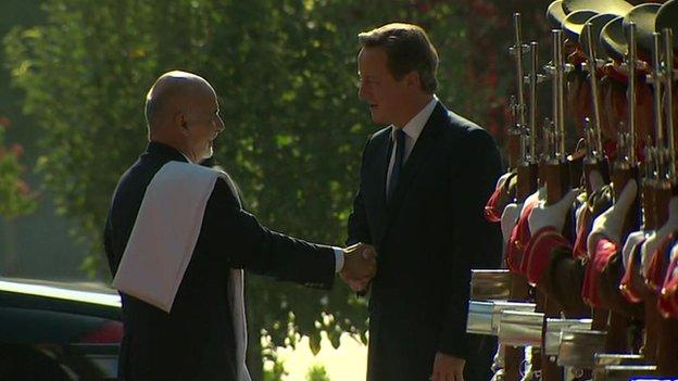 David Cameron and Ashraf Ghani