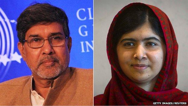 Kailash Satyarthi and Malala Yousafzai