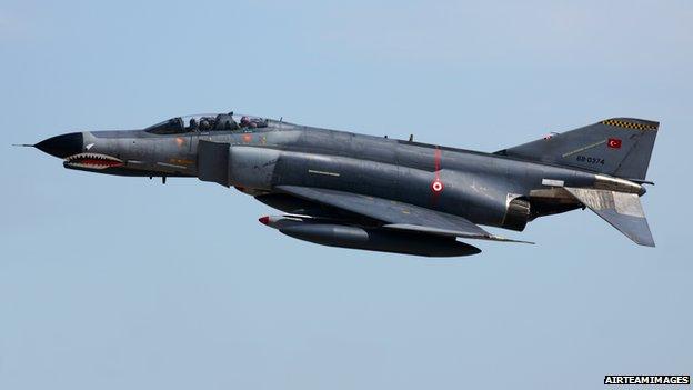 Turkish F-4 jet - file pic