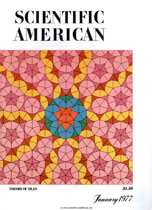 Scientific American cover with Penrose tiles