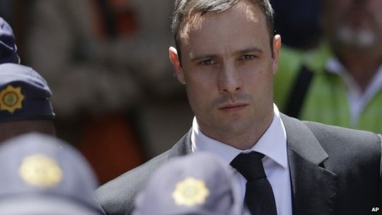 Oscar Pistorius pictured on 17 October 2014