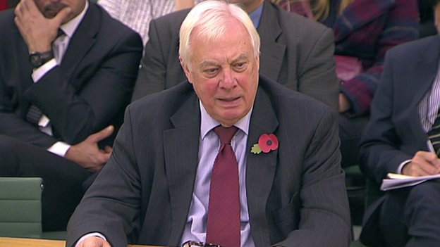 Lord Patten giving evidence to MPs