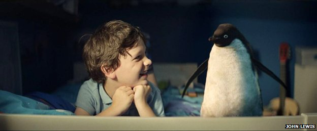 Boy with his penguin friend