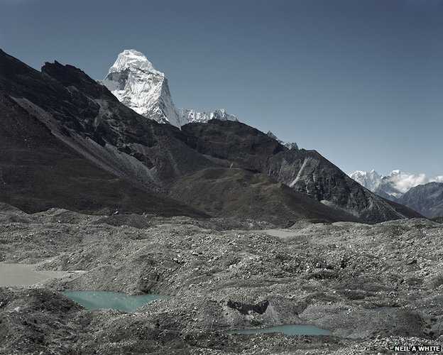 Moraine dam of Imja Tsho glacial lake