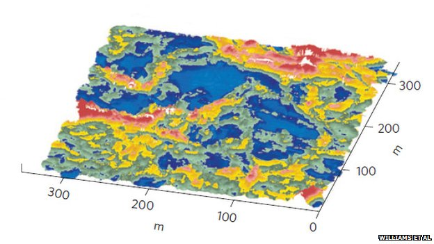 Sea ice map