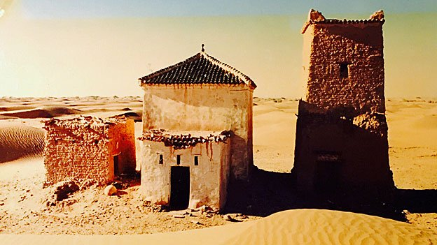 The Marabout - a Muslim shrine and holy man's tomb - where Mauro Prosperi stayed during his ordeal