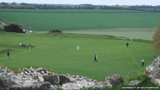 Students carry out research at Old Sarum