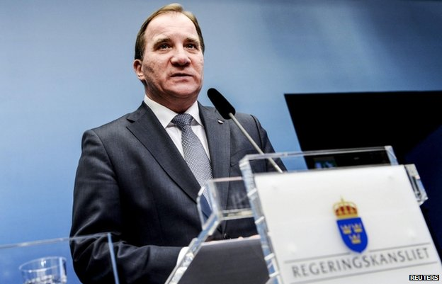 Swedish PM Stefan Lofven (2 Dec)