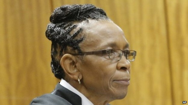 Judge Thokozile Masipa  in court in Pretoria, South Africa, on 9 December 2014