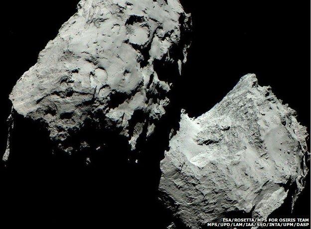 comet 67P in colour