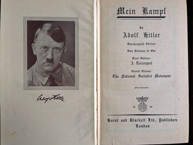 The title page of the Hurst and Blackett edition of Mein Kampf