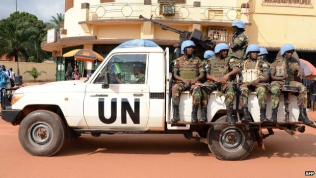 UN peacekeepers in Bangui