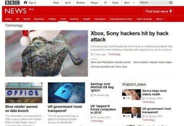 BBC responsive site