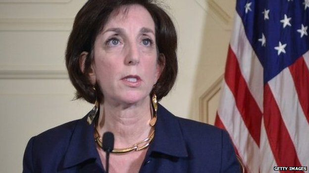 US assistant secretary of State for Western Hemisphere Affairs Roberta Jacobson speaks during a press conference