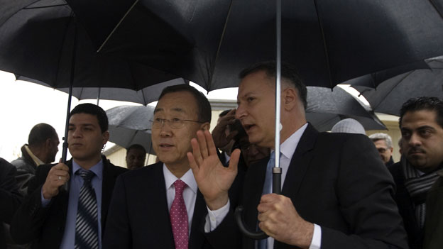 UN Secretary General Ban Ki-moon visited Rawabi in 2012