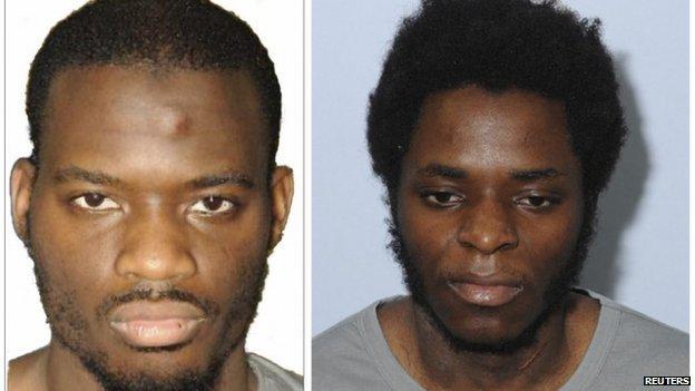 Michael Adebolajo (L) and Michael Adebolawe