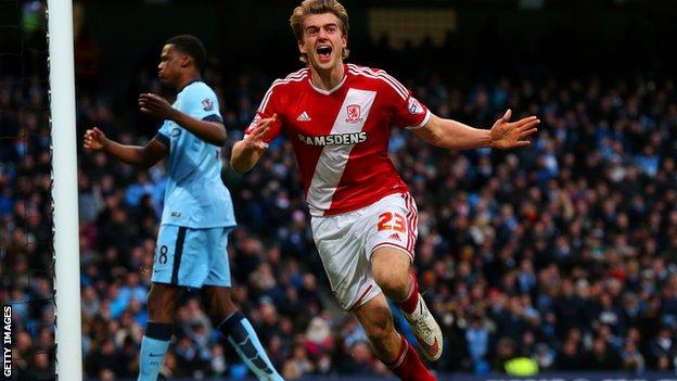 On-loan Middlesbrough striker Patrick Bamford
