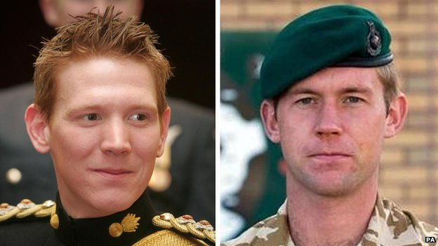 (l-r) Captain Tom Sawyer, of the Royal Artillery, and Corporal Danny Winter, of the Royal Marines