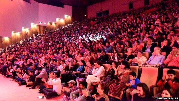 Audience at the LLF