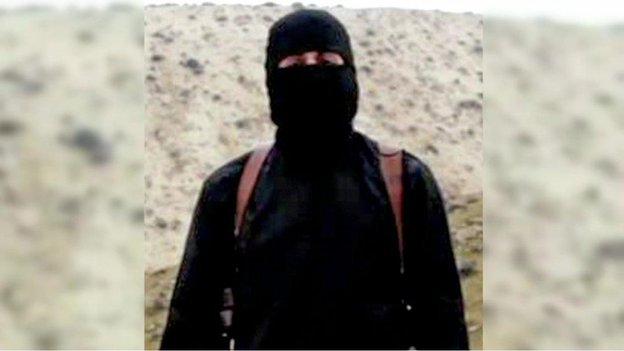"""Still from video showing """"Jihadi John"""", who the British authorities have identified as  Mohammed Emwazi from London"""