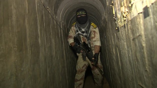 Islamic State fighter in Gaza tunnel