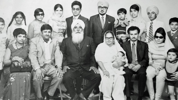 Fauja Singh's family in 1970