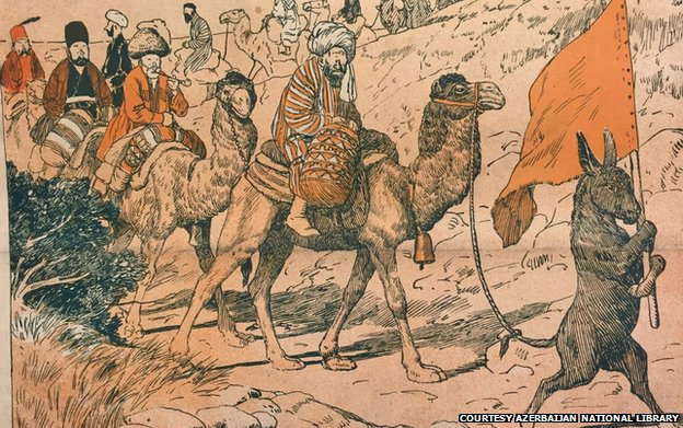 "This cartoon from 1909 had a pretty short explanation: ""Pilgrimage to Hajj""."