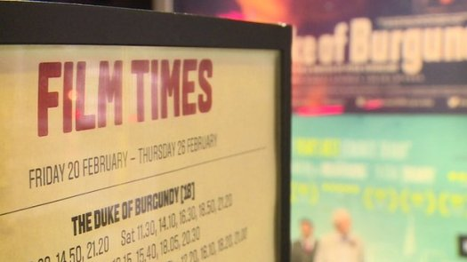 Film times sign