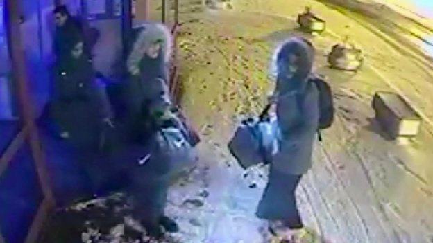 CCTV images of the three girls