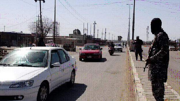 IS image showing fighters in Tikrit, Salahuddin province. 2 March 2015
