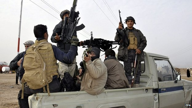 Shia fighters near Tikrit. 2 March 2015