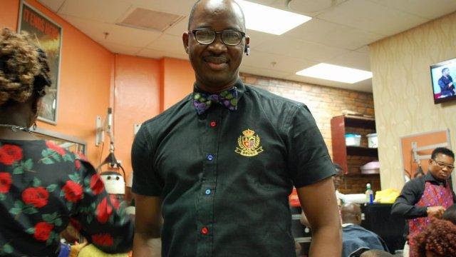 Hairdresser and businessman Bruno Oaikhinan in Nigeria