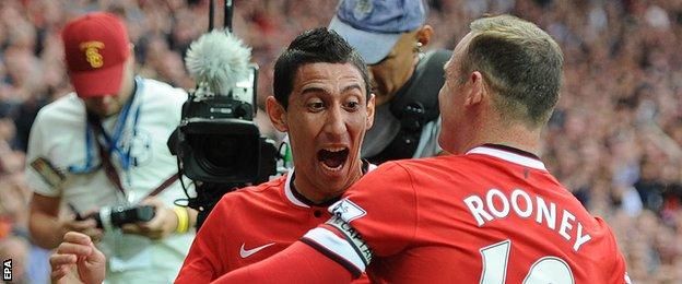 Man Utd duo Angel Di Maria and Wayne Rooney