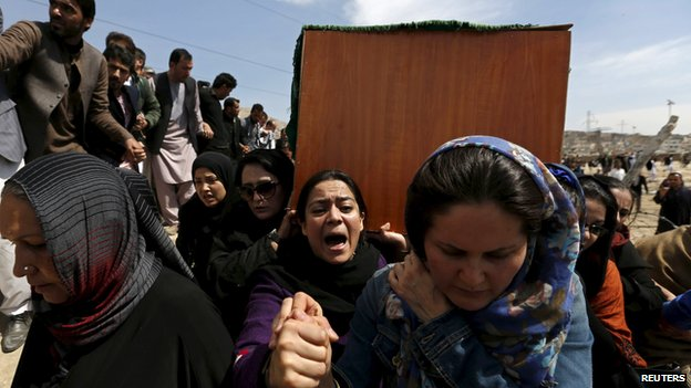Women at Farkhunda's funeral