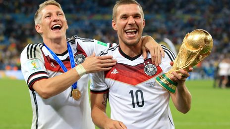 Germany celebrate with 2014 World Cup