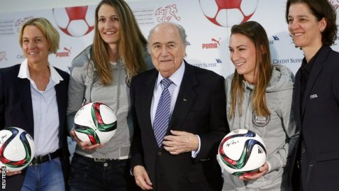 Sepp Blatter says he is a champion of the women's game