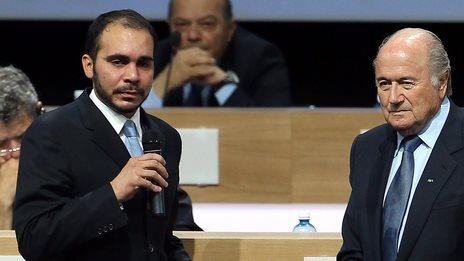 Prince Ali bin al-Hussein, Sepp Blatter