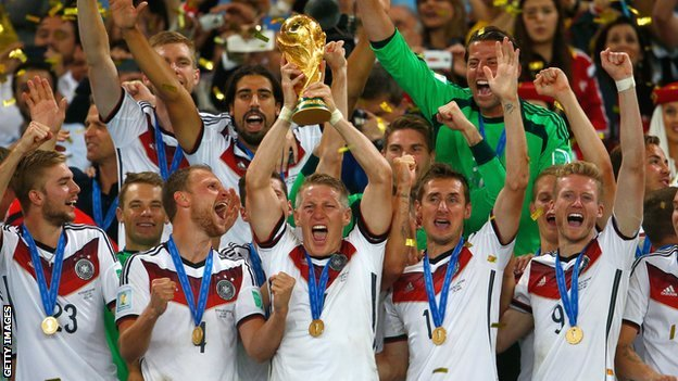 Germany winning the World Cup