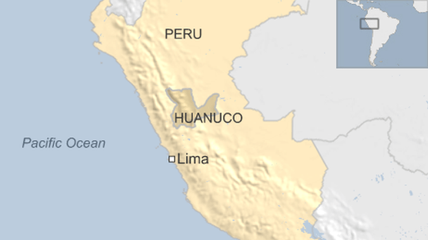 The accident happened in Huanuco region about 260km (161m) from Lima