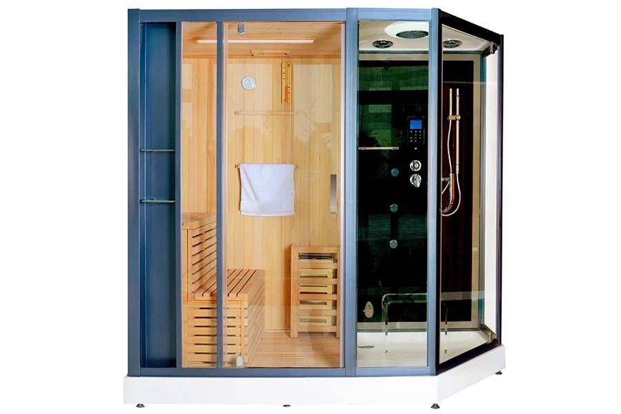 Box doccia bagno turco con colonna idromassaggio e sauna