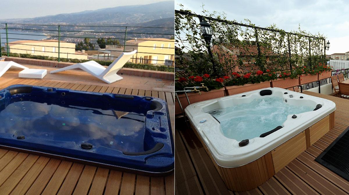Per gli amanti del Terrazzo Ecco la piscina sul terrazzo