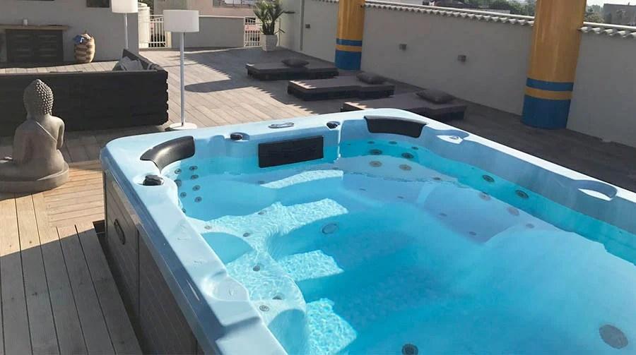 MiniPiscina idromassaggio nella tua terrazza Zen