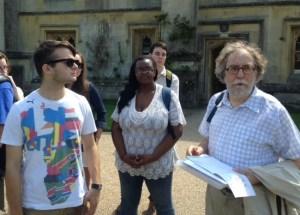 British scholar Colin Duriez speaks with Belmont students.