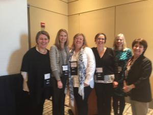 (L to R): Dr. Lunsford, Kate McGowan, Dr. Bonnie Smith Whitehouse, Dr. Darlene Panvini, Dr. Kim Daus and Dr. Sally Barton-Arwood