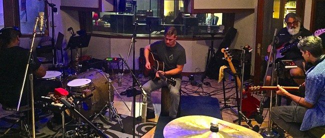 Drew Ramsey, Belmont Instructor of Songwriting, records at Ocean Way Nashville.