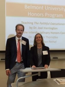Thorndike and Pethel of Belmont's Honors Program